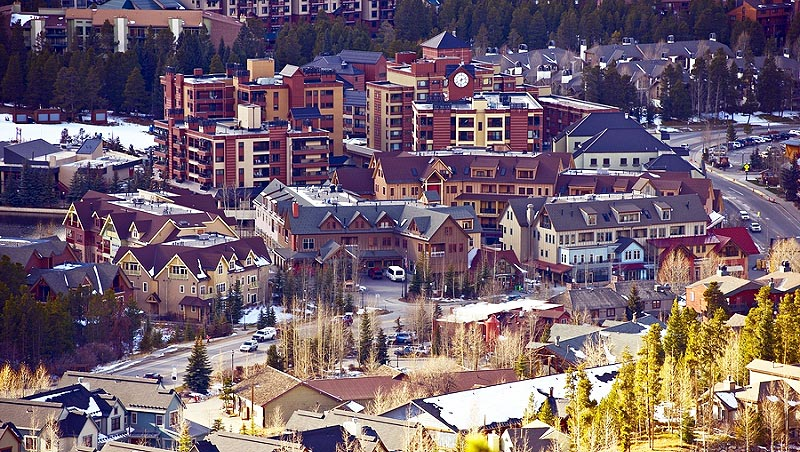 Aerial view of the town of Breckenridge, Colorado