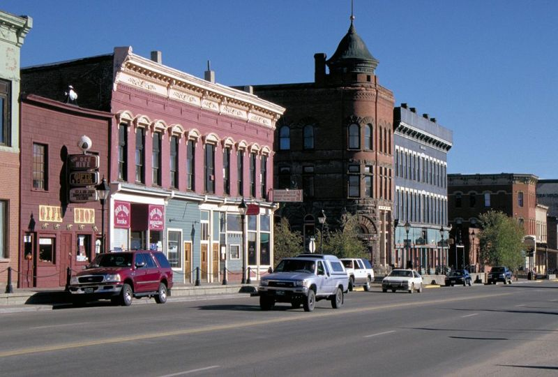 Downtown Leadville in Colorado.