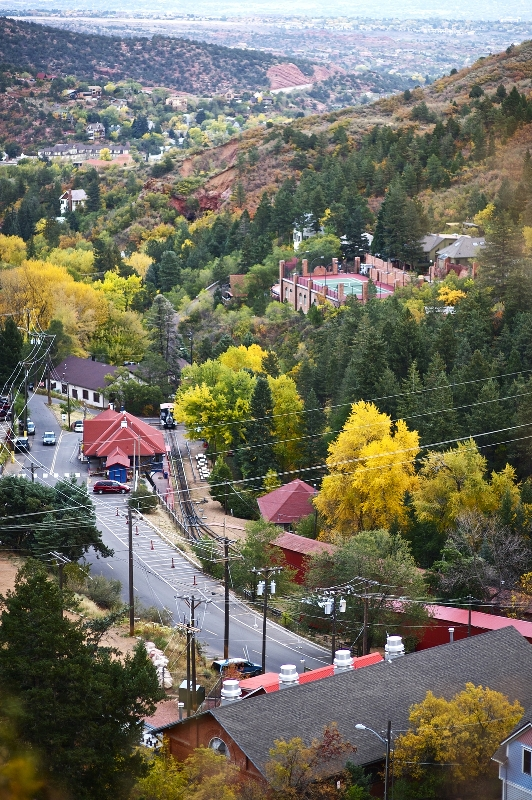 The town of Manitou Springs in El Paso County, Colorado
