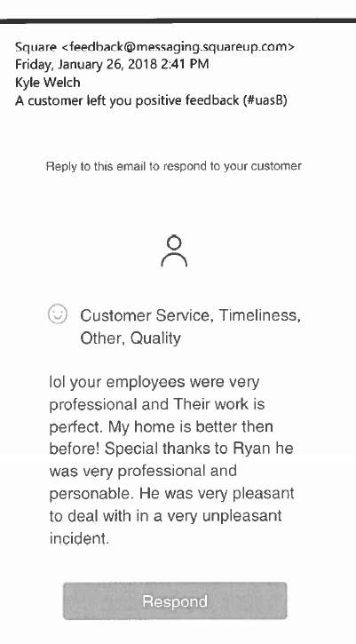 Customer Positive Feedback