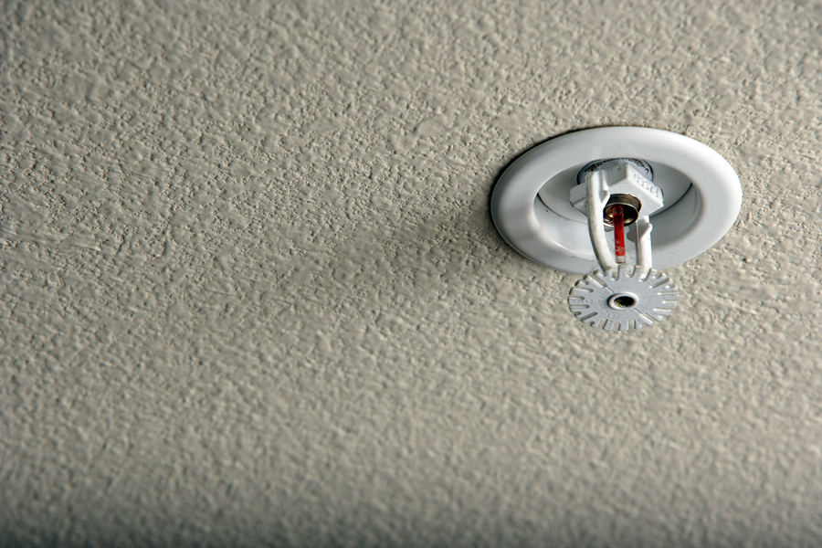 Fire sprinkler inside residential home