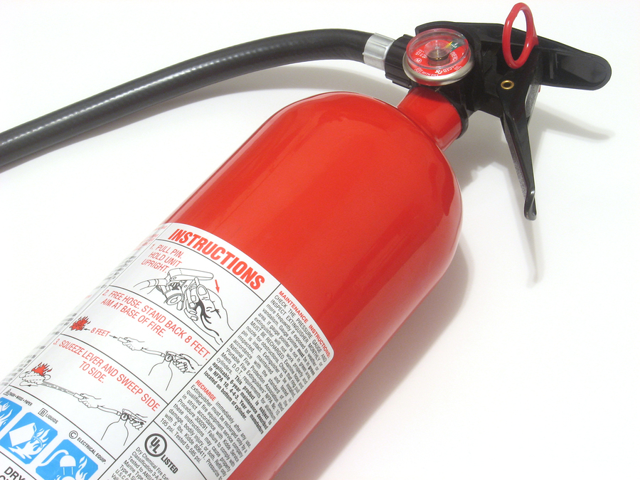 fire extinguisher with instructions