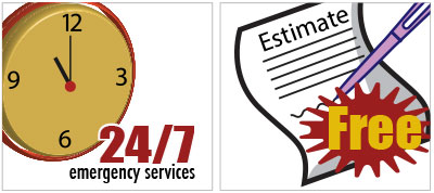 24/7 Emergency services and free in-home estimates in Breckenridge, Colorado.