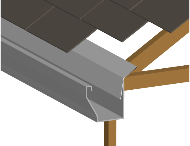in order to keep water from entering your house through the roof you need a gutter and gutter flashing a gutter simply flushes water away from your roof - How To Install Roof Flashing