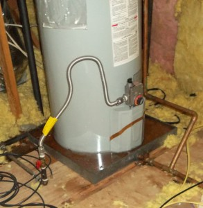 water heater overflow clean-up